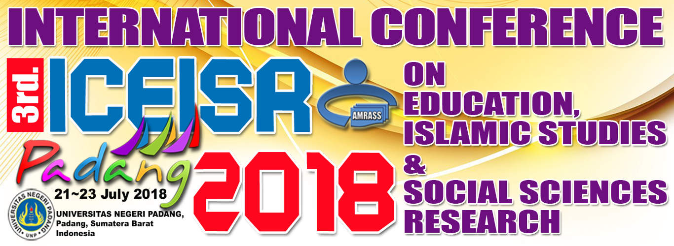 3rd International Conference on Education, Islamic Studies and Social Sciences Research